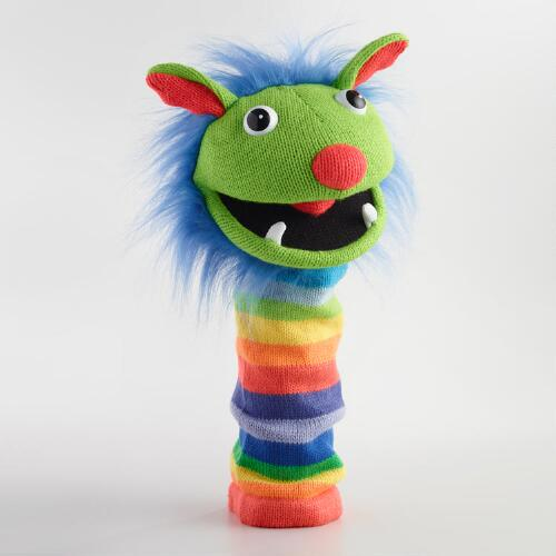 The Puppet Company Sockettes Knitted Rainbow Puppet