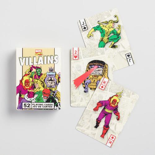 Marvel Comics Villains Playing Cards