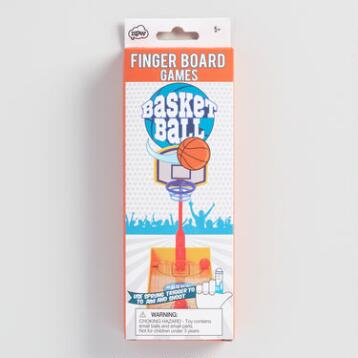 Portable Fingerboard Basketball Game