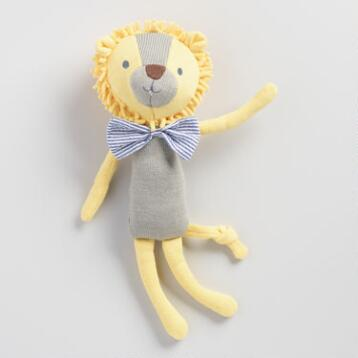Floral Knit Plush Lion