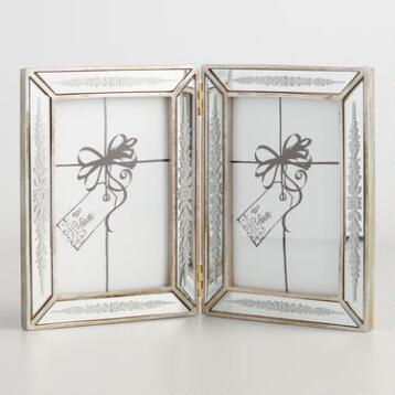 Beveled Lauren 2 Photo Mirror Frame