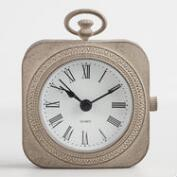 Graywash Metal Abbie Pocket Watch Clock