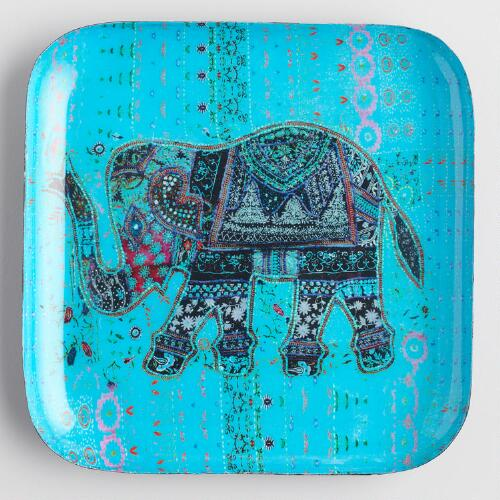 Blue Elephant Trinket Dish