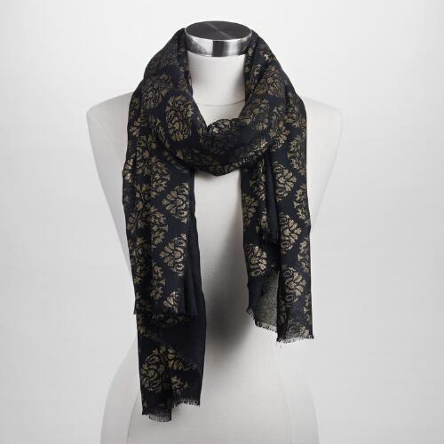 Black and Gold Foil Scarf