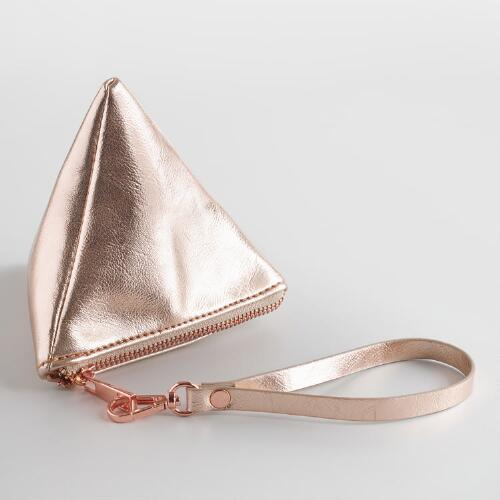 Small Metallic Triangle Bag