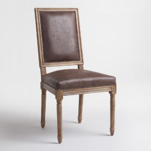 Brown Paige Square Back Dining Chairs Set of 2