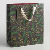 Large Holiday Messages Poinsettia Gift Bag