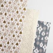 Solstice Retro Wrapping Paper Rolls 3 Pack