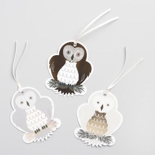 Solstice Owls Gift Tags 12 Pack