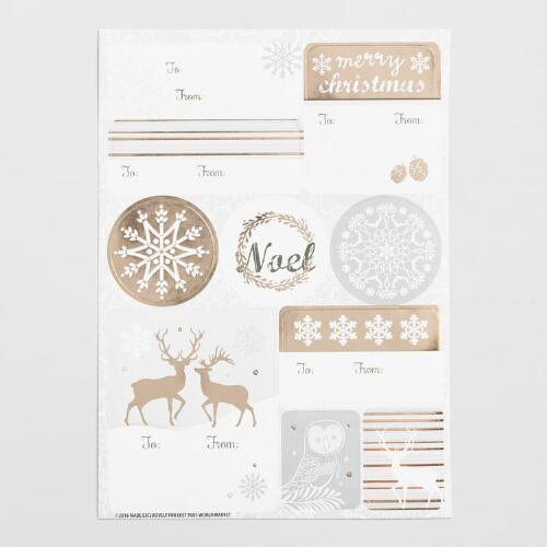 Solstice Holiday Gift Label Sheets 3 Pack