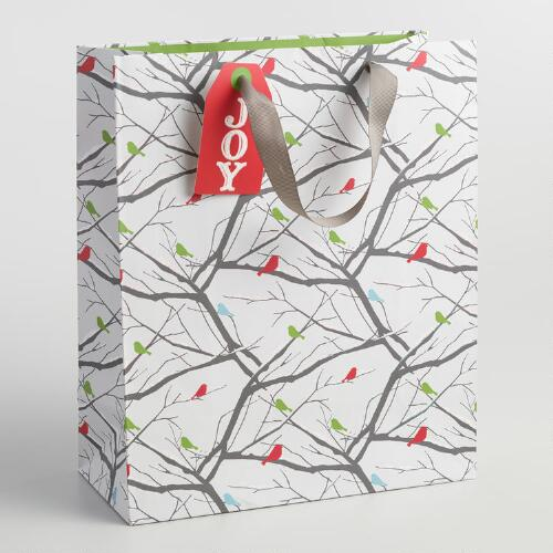 Large Snowbird Branches Paper Gift Bag