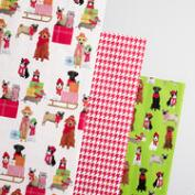 Pups and Cats Houndstooth Wrapping Paper Rolls 3 Pack