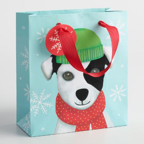 Small Dog with Beanie Gift Bags Set of 2