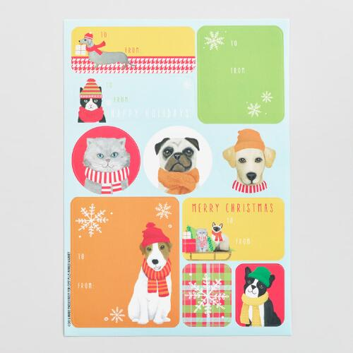 Pups and Cats Gift Label Sheets 3 Pack
