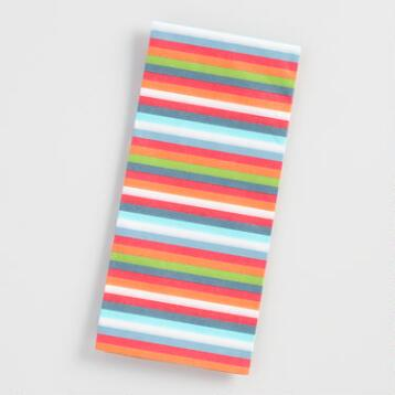 Pups Multicolor Stripes Tissue Paper
