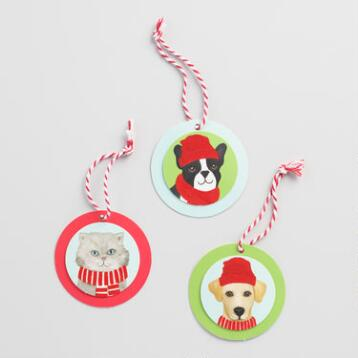 Pups and Cats Gift Tags 12 Pack