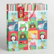 Jumbo Kids Patchwork Paper Gift Bag