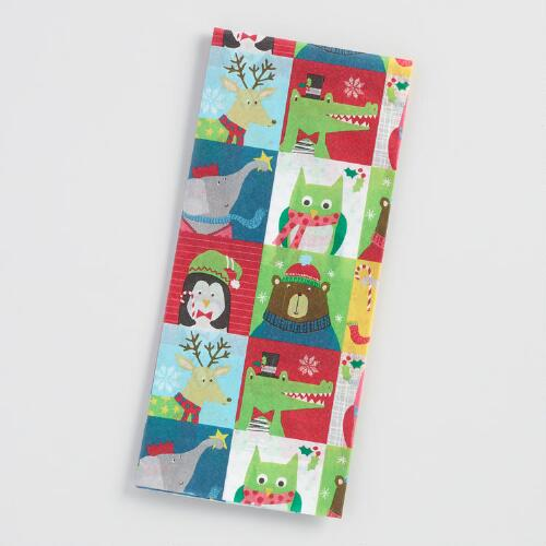 Kids Holiday Animals Tissue Paper Set of 2
