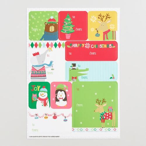 Kids Christmas Gift Label Sheets 3 Pack