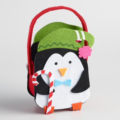 Felt Penguin Container