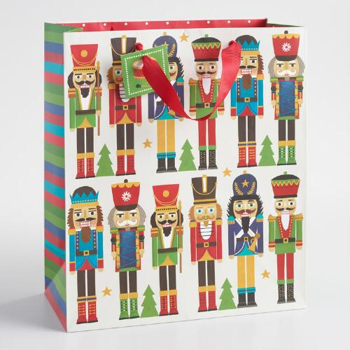Large Nutcracker Rows Gift Bag