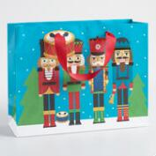 Medium Blue Nutcrackers Gift Bag