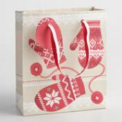 Small Alpine Lodge Mittens Gift Bags Set of 2