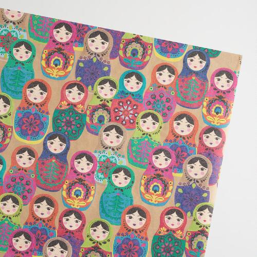 Jumbo Russian Dolls Wrapping Paper Roll