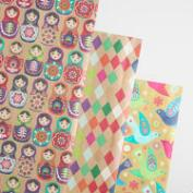 Global Gatherings Wrapping Paper Roll 3 Pack