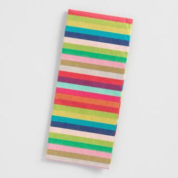 Global Gatherings Stripes Tissue Paper Set of 2