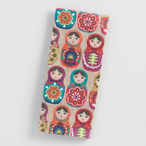 Russian Dolls Tissue Paper Set of 2