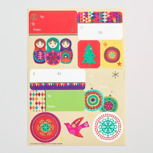 Global Gatherings Gift Label Sheets 3 Pack