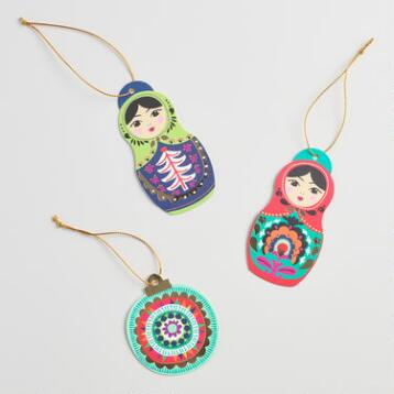 Global Gatherings Dolls Gift Tags Set of 6