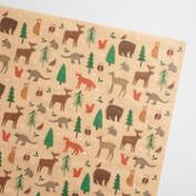 Woodland Creatures Kraft Wrapping Paper 3 Pack