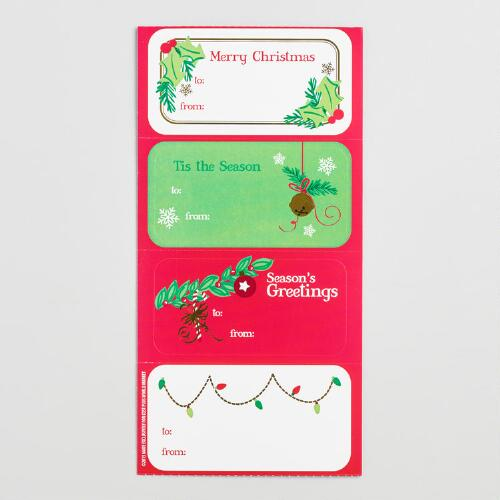 Traditional Christmas Gift Labels Set of 2