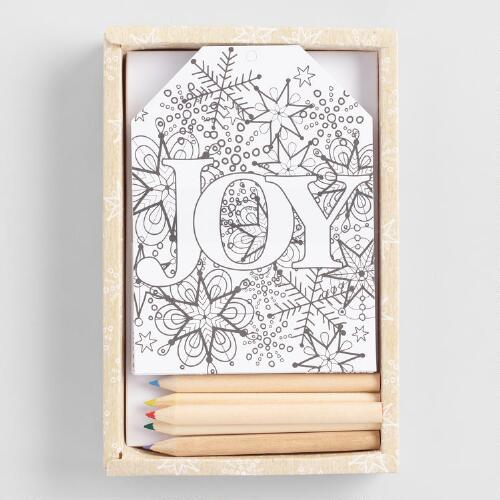 Color Your Own Joy Paper Gift Tags 24 Pack