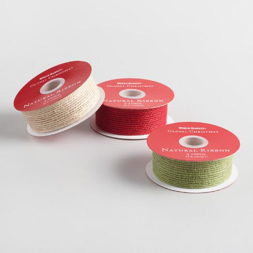 Natural Ribbon 3 Pack