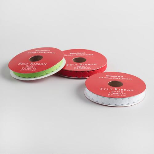Felt Circle Ribbon 3 Pack
