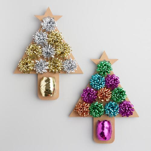 Tree with Bows Ribbon Set of 2