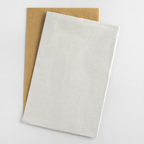Silver and Gold Tissue Paper 2 Pack