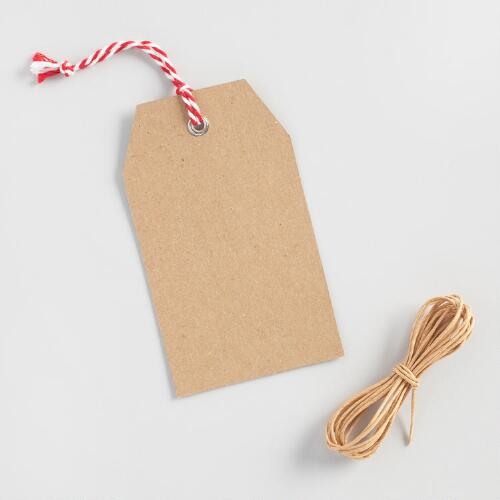 Kraft Christmas Gift Tags 24 Pack