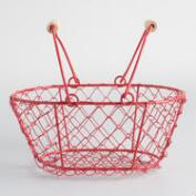 Mini Red Wire Baskets Set of 2