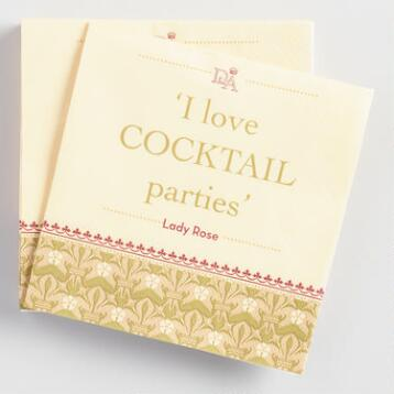 Downton Abbey Cocktail Parties Beverage Napkins Set of 20