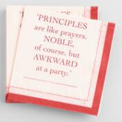 Principles of Drinking Beverage Napkins 20 Count
