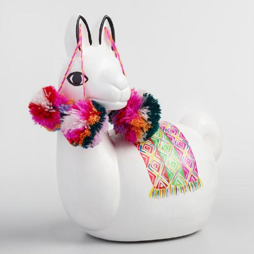 Ceramic Alpaca Coin Bank