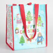 Small Happy Christmas Totes Set of 2