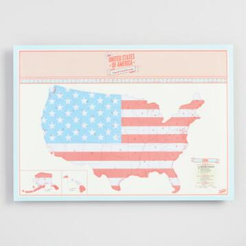 USA Travel Scratch Map