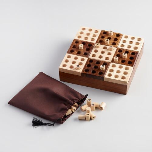 Wood Sudoku Game Set