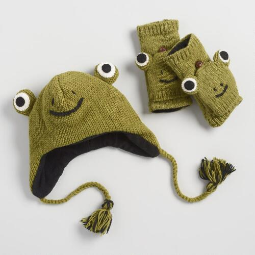 Frog Wool Hat and Gloves Collection