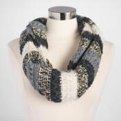 Black, Gray and Ivory Knit Snood